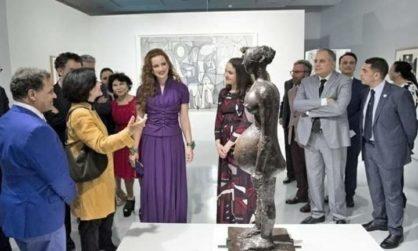 زيارة ثقافية _فنية للأميرة لالة سلمى بمتحف محمد السادس