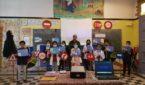 تلامذة مدرسة ابن حمديس بآزمور في حملة تحسيسية للسلامة الطرقية